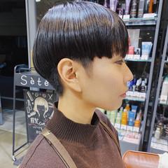 モード 黒髪ショート ショート ショートヘア ヘアスタイルや髪型の写真・画像