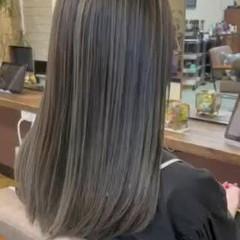 外国人風 エレガント ロング バレイヤージュ ヘアスタイルや髪型の写真・画像
