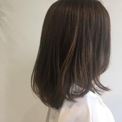 ショコラブラウン ベージュ ミディアム ナチュラル ヘアスタイルや髪型の写真・画像