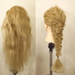 フェミニン ロング 編み込み ゆるふわ ヘアスタイルや髪型の写真・画像