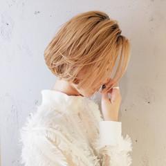 ナチュラル 切りっぱなしボブ 透明感カラー ボブ ヘアスタイルや髪型の写真・画像