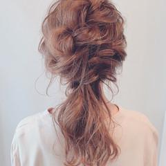 フェミニン ふんわり 結婚式ヘアアレンジ ヘアアレンジ ヘアスタイルや髪型の写真・画像