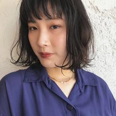 ウェーブ ラフ ボブ モード ヘアスタイルや髪型の写真・画像