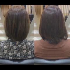 艶髪 社会人の味方 ミディアム ナチュラル ヘアスタイルや髪型の写真・画像