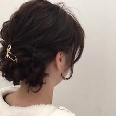 結婚式 フェミニン デート セミロング ヘアスタイルや髪型の写真・画像