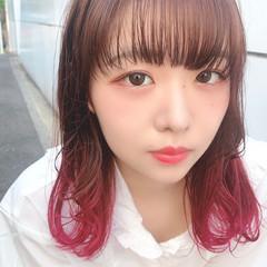 ガーリー 大人可愛い ピンク デート ヘアスタイルや髪型の写真・画像