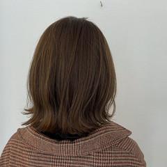 切りっぱなしボブ 簡単ヘアアレンジ 3Dハイライト ナチュラル ヘアスタイルや髪型の写真・画像