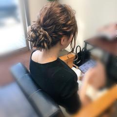 ヘアセット アップ 結婚式 フェミニン ヘアスタイルや髪型の写真・画像