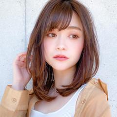 コンサバ レイヤー ミディアムレイヤー レイヤーカット ヘアスタイルや髪型の写真・画像
