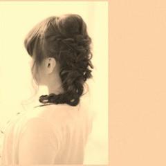 夏 愛され かわいい セミロング ヘアスタイルや髪型の写真・画像