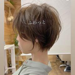 大人かわいい ショート 小顔ショート ナチュラル ヘアスタイルや髪型の写真・画像