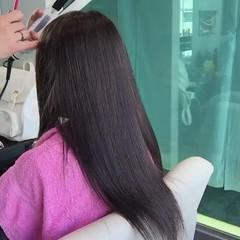 上品 エレガント アッシュ ロング ヘアスタイルや髪型の写真・画像