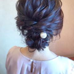 結婚式 ロング 簡単ヘアアレンジ シニヨン ヘアスタイルや髪型の写真・画像