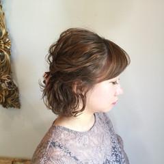 ボブ 結婚式 女子会 フェミニン ヘアスタイルや髪型の写真・画像