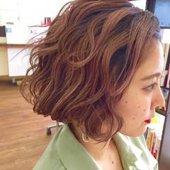 波ウェーブ ガーリー ピンク ウェットヘア ヘアスタイルや髪型の写真・画像
