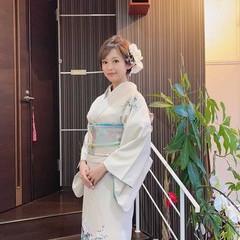 ミディアム 着物 ヘアアレンジ 結婚式髪型 ヘアスタイルや髪型の写真・画像