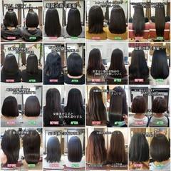 トリートメント ロング 髪質改善 ナチュラル ヘアスタイルや髪型の写真・画像