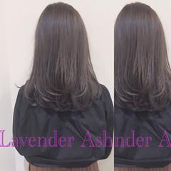 冬 コンサバ ハイライト セミロング ヘアスタイルや髪型の写真・画像