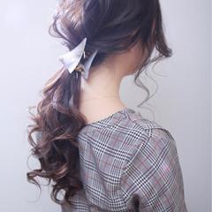 ロング オフィス 結婚式 コンサバ ヘアスタイルや髪型の写真・画像