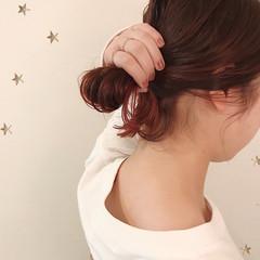 グラデーションカラー ストリート ピンク セミロング ヘアスタイルや髪型の写真・画像
