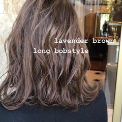 モテボブ 切りっぱなしボブ ブラウン レイヤーボブ ヘアスタイルや髪型の写真・画像