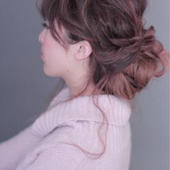 編み込み ルーズ ミディアム 簡単 ヘアスタイルや髪型の写真・画像