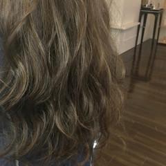 グレージュ ハイライト ヘアアレンジ エレガント ヘアスタイルや髪型の写真・画像