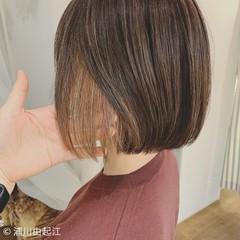 ショートヘア ボブ 大人かわいい ナチュラル ヘアスタイルや髪型の写真・画像