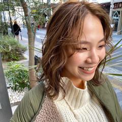 無造作パーマ ゆるふわパーマ ボブ フェミニン ヘアスタイルや髪型の写真・画像