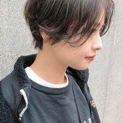ベリーショート ショートボブ グレージュ ショート ヘアスタイルや髪型の写真・画像