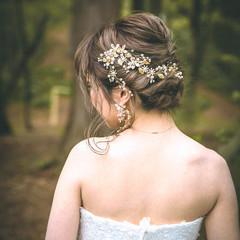 結婚式アレンジ ミディアム 結婚式髪型 結婚式ヘアアレンジ ヘアスタイルや髪型の写真・画像