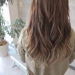 デート グラデーションカラー ロング フェミニン ヘアスタイルや髪型の写真・画像