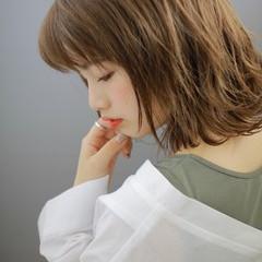 色気 ボブ ナチュラル 斜め前髪 ヘアスタイルや髪型の写真・画像