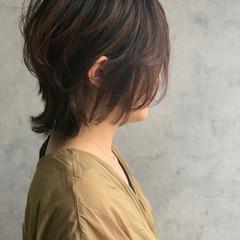 くびれボブ ショート ニュアンスウルフ ナチュラルウルフ ヘアスタイルや髪型の写真・画像