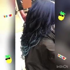 ネイビーブルー ストリート ネイビーカラー ネイビー ヘアスタイルや髪型の写真・画像