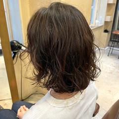 外ハネボブ ウルフカット デジタルパーマ ボブ ヘアスタイルや髪型の写真・画像