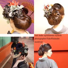 モード 成人式 セミロング 結婚式 ヘアスタイルや髪型の写真・画像
