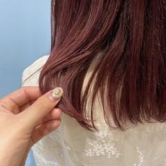 ミディアム うる艶カラー ナチュラル ヘアアレンジ ヘアスタイルや髪型の写真・画像