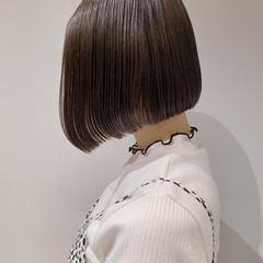 ナチュラル ミニボブ まとまるボブ 簡単スタイリング ヘアスタイルや髪型の写真・画像