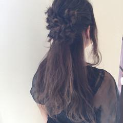 ヘアアレンジ ロング 編み込み デート ヘアスタイルや髪型の写真・画像