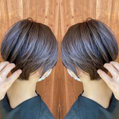 ナチュラル 福岡市 ショート 30代 ヘアスタイルや髪型の写真・画像