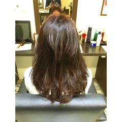 レイヤーカット ガーリー セミロング 外国人風 ヘアスタイルや髪型の写真・画像