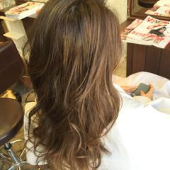 グラデーションカラー ナチュラル ハイライト ロング ヘアスタイルや髪型の写真・画像