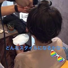 巻き髪 透明感 ショート 秋 ヘアスタイルや髪型の写真・画像