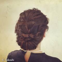コンサバ ヘアアレンジ まとめ髪 編み込み ヘアスタイルや髪型の写真・画像