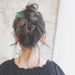 ミディアム ヘアアレンジ アッシュ 外国人風 ヘアスタイルや髪型の写真・画像