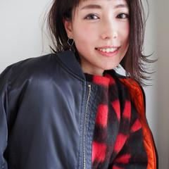 大人女子 色気 小顔 前髪あり ヘアスタイルや髪型の写真・画像