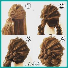 結婚式 ナチュラル 大人女子 三つ編み ヘアスタイルや髪型の写真・画像