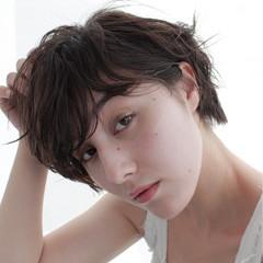 モード ニュアンス ナチュラル 斜め前髪 ヘアスタイルや髪型の写真・画像