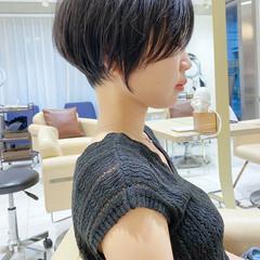 ショートボブ ナチュラル ベリーショート ショートヘア ヘアスタイルや髪型の写真・画像